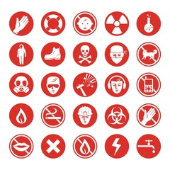 Work protection set with various icons