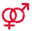 Stempel Venussymbol/ Marssymbol vereint