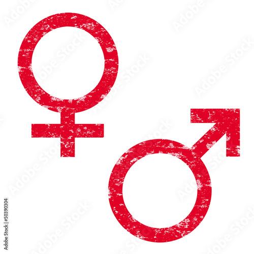 Stempel Venussymbol/ Marssymbol