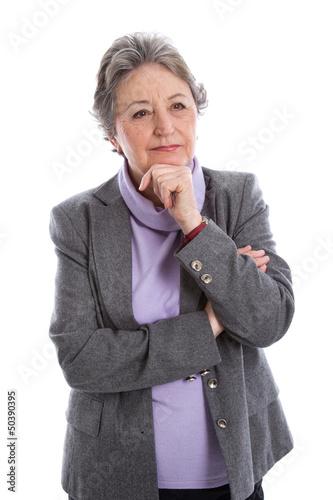 Ältere nachdenkliche Frau - Älter werden