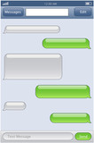 phone chat template