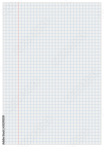 Notebook paper with squares