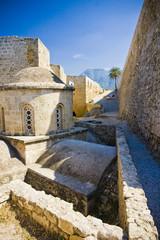 The walls of the Venetian castle in Kyrenia, Cyprus