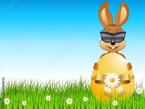 Osterhase mit Sonnenbrille
