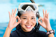 young indonesian diver says ok