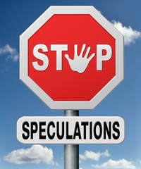 stop speculations