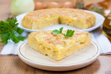 Spanish Omelette. By far the most popular Spanish tapa