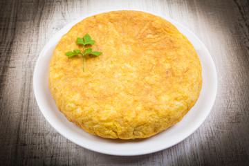Full Spanish Omelette in a plate
