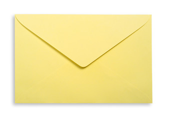 Yellow envelope isolated.