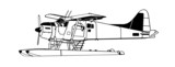 Indiscrete Propeller Seaplane Black White