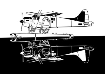 Indiscrete Propeller Seaplane Negative Combo Mirror