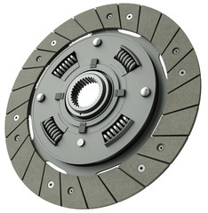 Vehicle clutch plate, 3D render