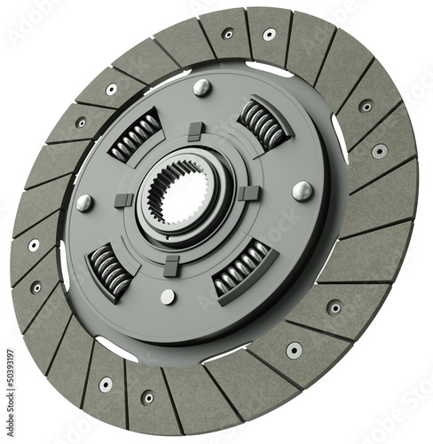 Vehicle clutch plate, 3D render