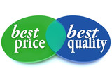 Best Price and Quality Venn Diagram Comparison Ideal Buy poster