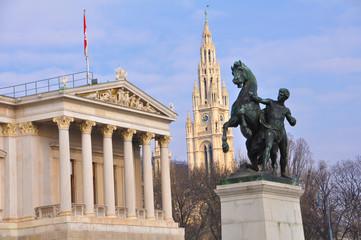Parlament in Wien, Österreich