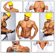 Hot worker in unofirm with drill