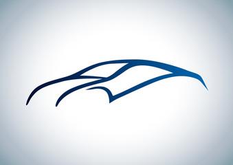Estetik bir spor araba logosu