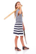 Girl with sword and hurl