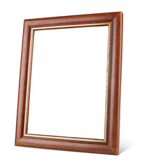 Simple wooden picture frame with shadow