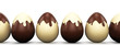 Easter eggs candy made ​​of  chocolate