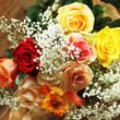 bunter Strauss Rosen zum Muttertag