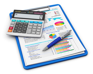 Business finance and accounting concept