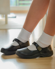 Thai schoolgirl's shoe