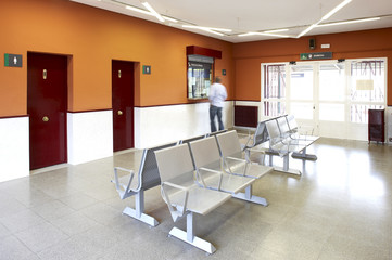Railway station waiting room