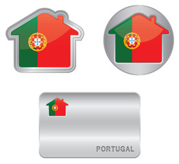 Home icon on the Portugal flag