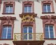 Facade of old city hall (1741) in Offenburg, Germany