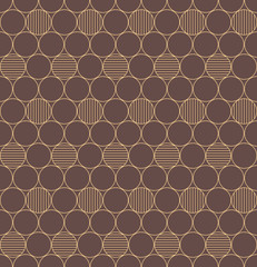 Elegant vintage geometric vector background. Seamless pattern.