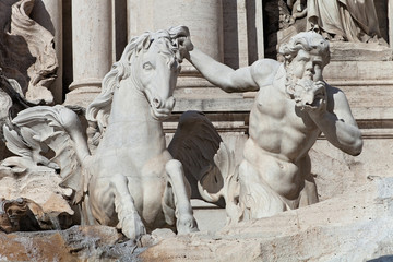 Trevi's Fountain Statue Detail