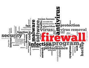 """""""FIREWALL"""" Tag Cloud (antivirus software security protection)"""