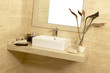 Basin with soap and towels