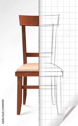 Chair and sketch