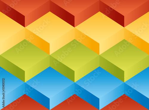 Vector background pattern. Volume variegated blocks - 50400312