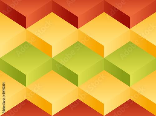 Vector background pattern. Volume variegated blocks - 50400314