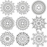 Floral patterns in the form mandala