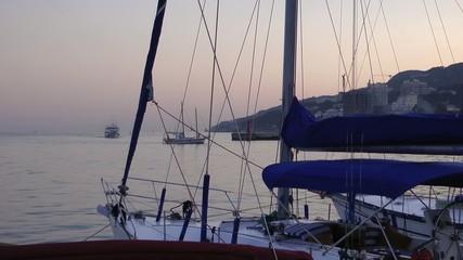 Море, панорама, яхты, набережная