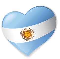 Sticker Heart Argentina