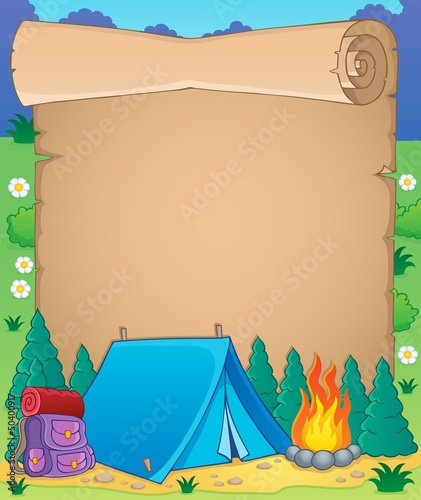 Camping theme parchment 1