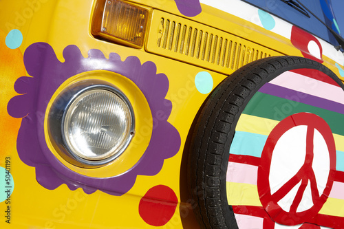 Van with hippie style