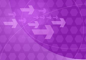 purple graphic arrows