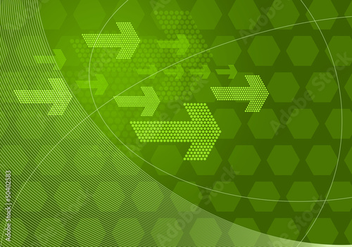 green graphic arrows backdrop