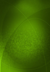 green digital graphics
