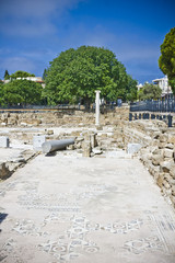 early christian basilica in Pafos, cyprus