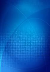 blue digital graphics