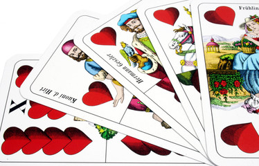 Set of Hungarian playing cards