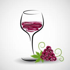 rotwein mit trauben