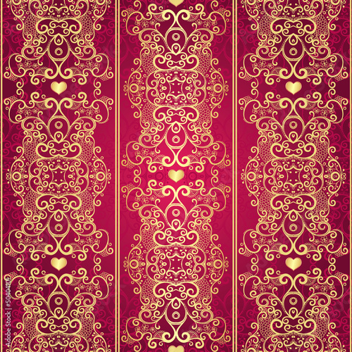 Seamless gold vintage lacy pattern